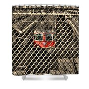 Train Behind A Fence Shower Curtain