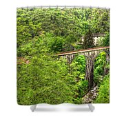 Train Bridge Shower Curtain