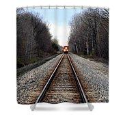 Train Head On Shower Curtain