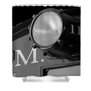 Train Headlight Shower Curtain