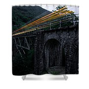 Train Lights Shower Curtain