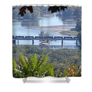 Train On The Mississippi Shower Curtain