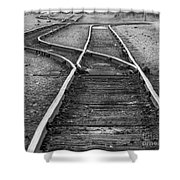 Train Tracks Switch Shower Curtain
