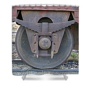 Train Wheel Shower Curtain