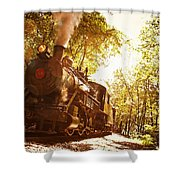 Trains A Coming Shower Curtain