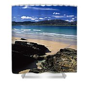 Tramore Strand And Loughros Mor Bay Shower Curtain