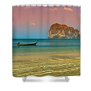 Trang Longboat Shower Curtain