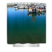 Tranquility At The Marina Shower Curtain