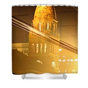 Transposed Tower Shower Curtain