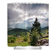 Transylvania Landscape - Romania Shower Curtain