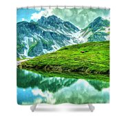 Travelers Rest Swiss Alps Shower Curtain