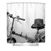 Traveling In Style . Black And White Shower Curtain
