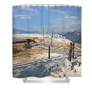 Travertine Limestone Terraces Shower Curtain