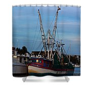 Trawler At Port Shower Curtain