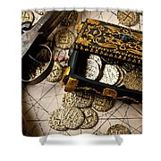 Treasure Box With Old Pistol Shower Curtain