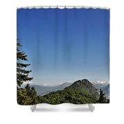 Tree And A Panoramic View Shower Curtain