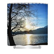 Tree And Lake Shower Curtain