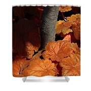 Tree And Pumpkin-like Leaves Shower Curtain