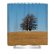 Tree Formation On A Hill Of Veldt Shower Curtain