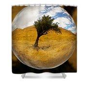 Tree In A Field Through A Glass Eye Shower Curtain