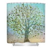 Tree In Autumn Shower Curtain