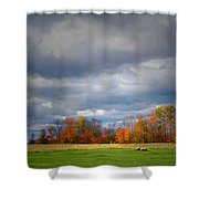 Tree Line On Sunset Hill In New Hampshire Shower Curtain