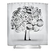 Tree Of Industrial Shower Curtain by Setsiri Silapasuwanchai
