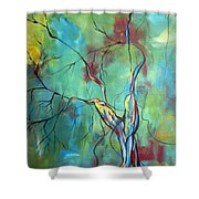 Tree Of Winding Color Shower Curtain