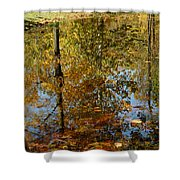 Tree River Reflections Shower Curtain