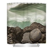 Tree Trunk Gorge In  Turangi Shower Curtain
