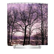 Trees In Glorious Calm Shower Curtain