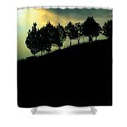 Trees On Ridge Shower Curtain