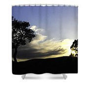Trees On The Edge Shower Curtain