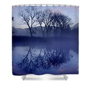 Trees On The Lake Front Shower Curtain