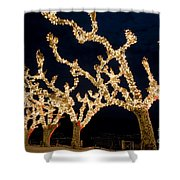 Trees With Lights Shower Curtain