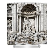 Trevi Fountain Detail Shower Curtain