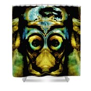 Tribal Mask Shower Curtain