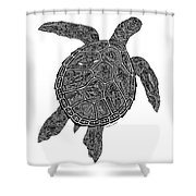 Tribal Turtle IIi Shower Curtain by Carol Lynne