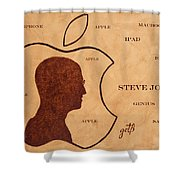 Tribute To Steve Jobs Shower Curtain