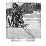 Tribute To The Mining Family - Wallace Idaho Shower Curtain