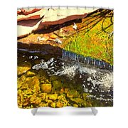 Trickle Waterfall Shower Curtain