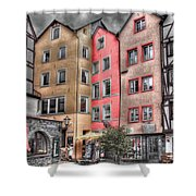Tricolor Houses Shower Curtain