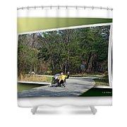 Trike Wave Shower Curtain