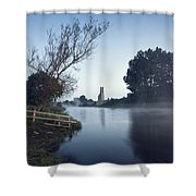 Trim Castle Along Banks Of The River Shower Curtain