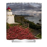 Trinidad Memorial Lighthouse After Storm Shower Curtain
