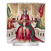 Trinity And Christ Shower Curtain