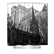 Trinity Church New York City Shower Curtain