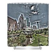 Trippy Houston Shower Curtain