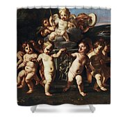 Triumph Of Cupid Shower Curtain