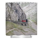 Trolley Ride Through A Tunnel Shower Curtain